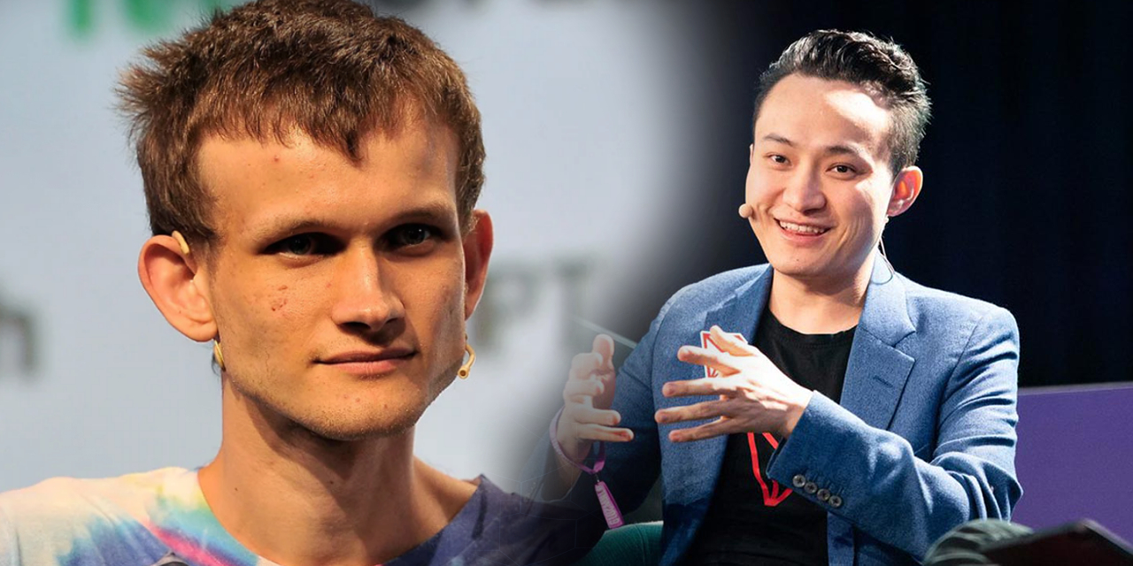 Ethereum founder Vitalik Buterin's latest tweet is a jibe at Tron founder Justin Sun