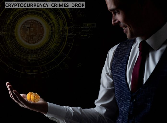 cryptocurrency crime drop